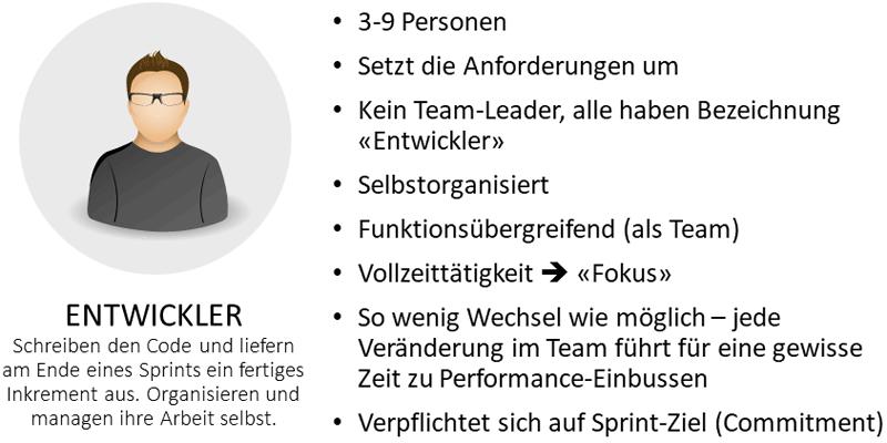 Die Rolle des Entwickler-Teams