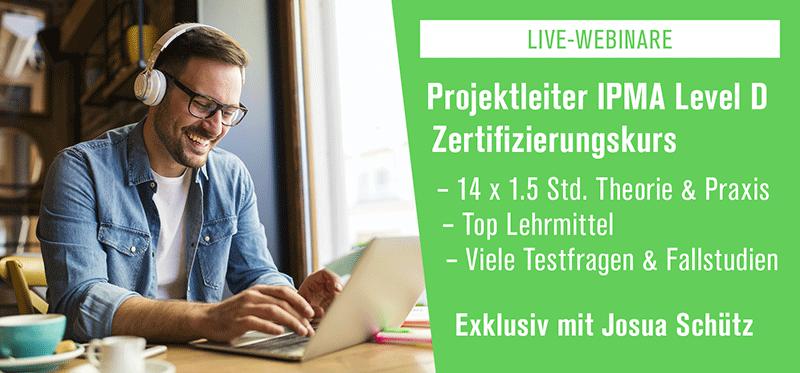 Projektleiter IPMA Level D Live-Webinare